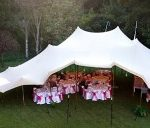 Sand coloured freeform stretch tents