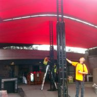 Stretch Tent - Winch up truss King pole