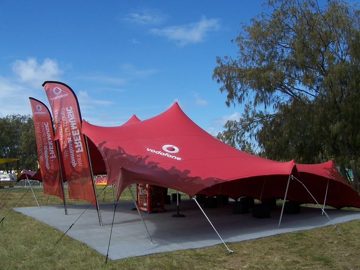 Get great brand exposure with a promotional stretch tent & branded
