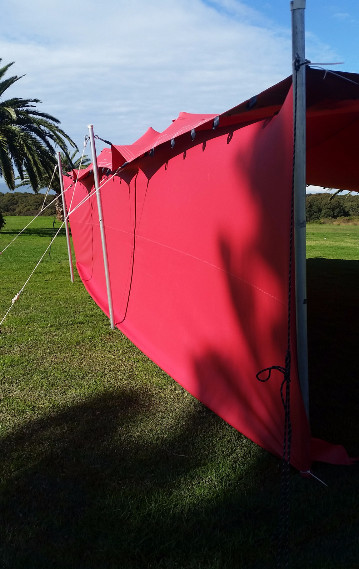 Stretch tent removable side walls