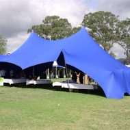Blue Stretch Tent two sides down