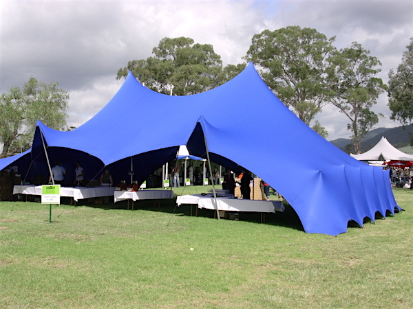 Colour wheel Blue Stretch Tent two sides down