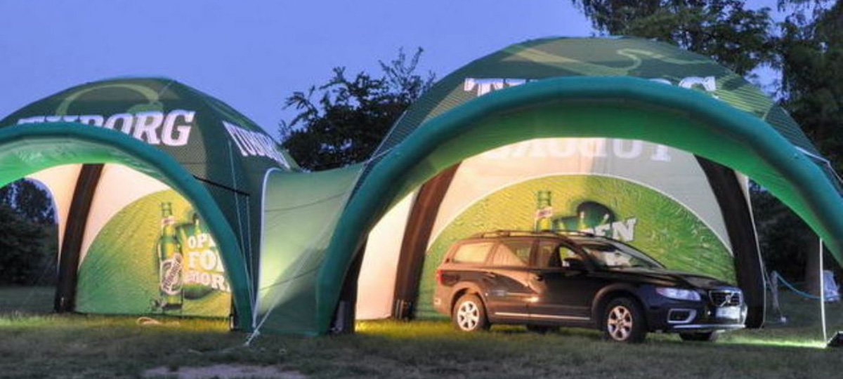 Inflatable Axion 7m x 7m sealed inflatable structures