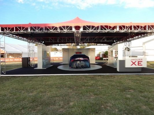 Custom Stretch Tent & Truss for Jaguar XE launch @ Australian F1 Grand Prix