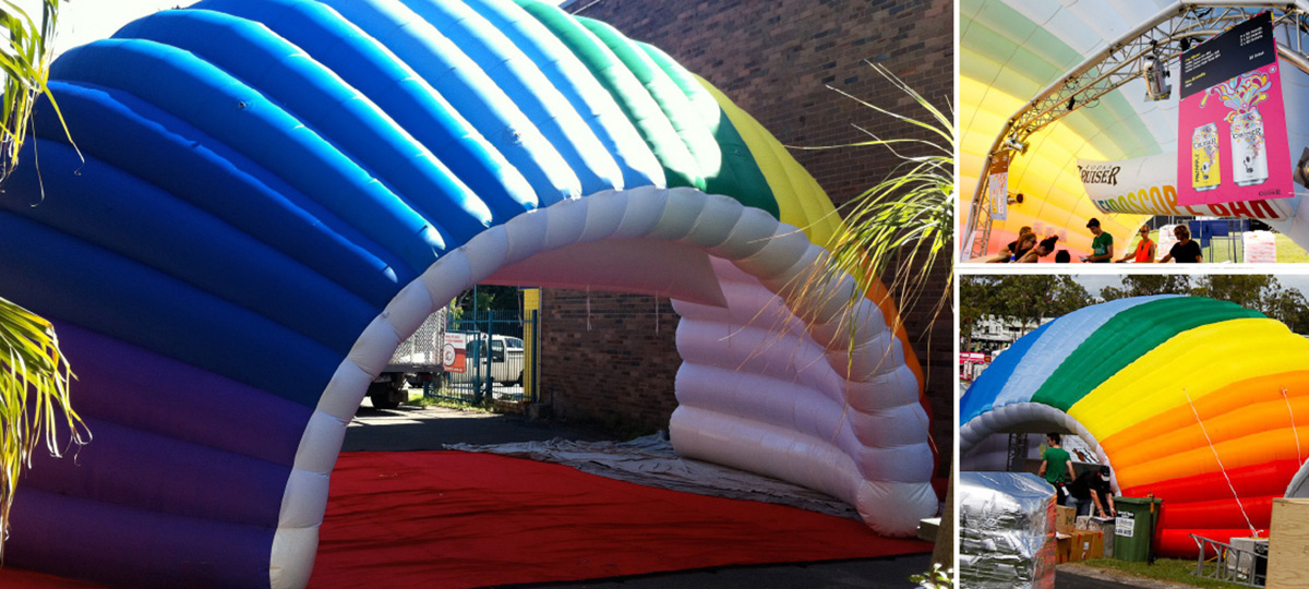 Inflatable Structures - promotional marquees and eye-catching structures