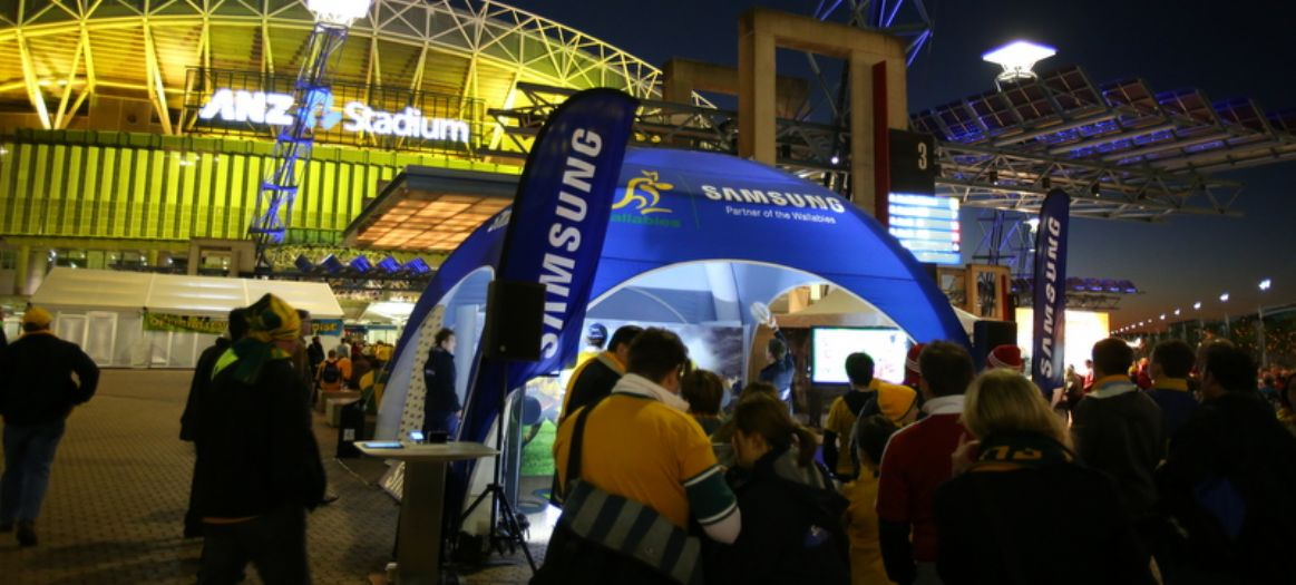 ANZ Stadium Samsung Rugby Hub Axion Inflatable Octagon