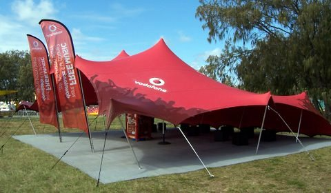 Vodafone Branded Stretch Tent