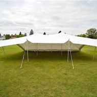 White 9m x 12m Stretch Tent - one side down