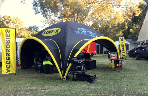 & Line-X Inflatable Axion u2013 A Winning Display | Stretch Event Tents USA