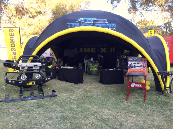 Line-X Axion Outdoor Exhibit