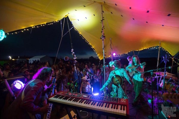 Scallywags Custom Stretch Tent used as a Stage