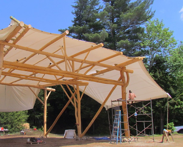Wood of a Kind Stage and Custom Stretch Tent Cover