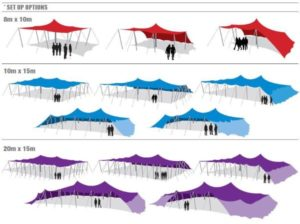 Stretch Tents All Shapes All Sizes