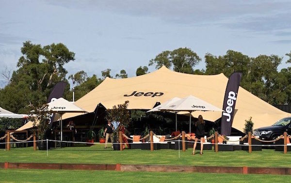custom branded stretch tent