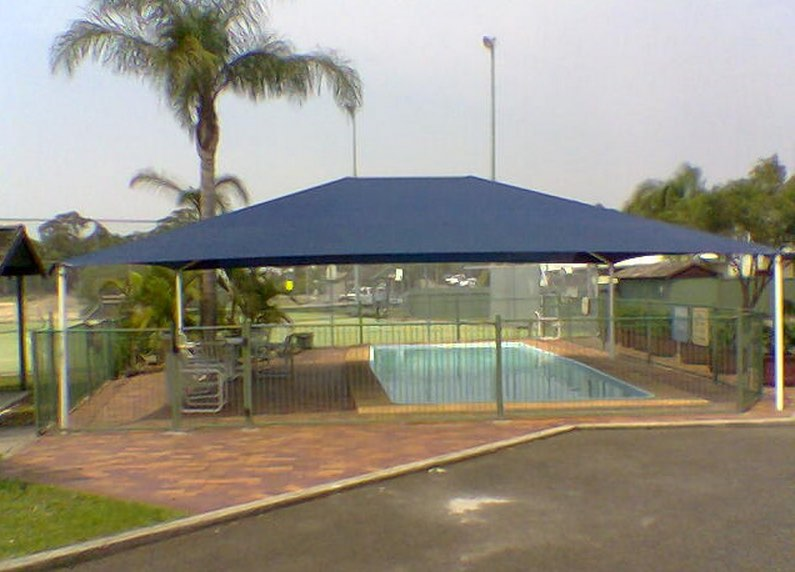 SMFS Shade Sails municipal pool