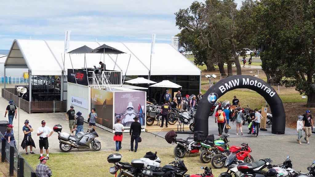 BMW stretch Tent and AXION inflatable Arch - Brand Dimensions - brand activation