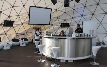 Inside the Geodesic Dome