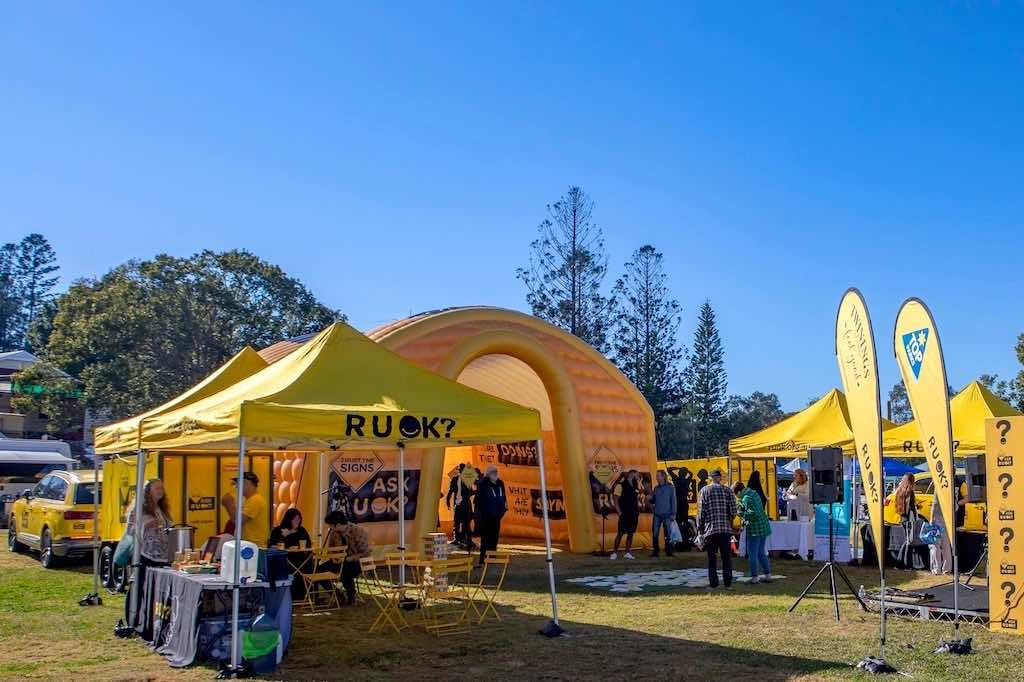 RUOK custom inflatable house - Fourth Wall - Gympie