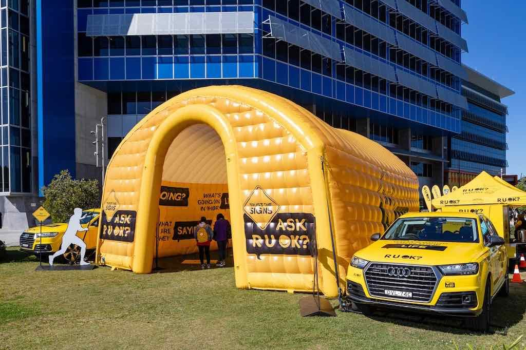 RUOK custom inflatable house - Fourth Wall - Southern Cross University Gold Coast
