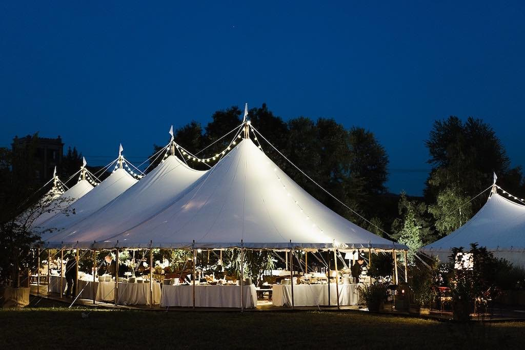 covered by canvas - traditional canvas marquee