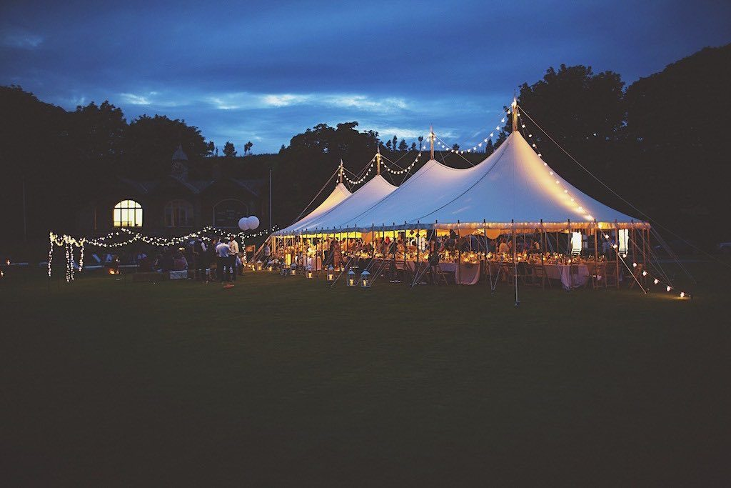covered by canvas - traditional marquee