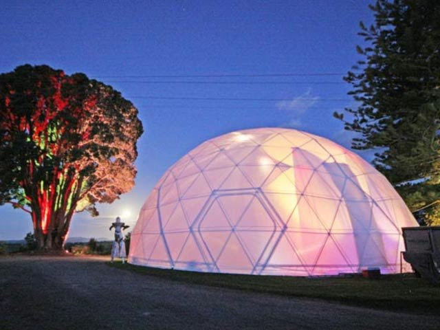 igloo geodesic domes - night light