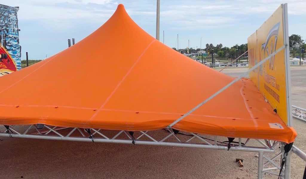 Red Fish Series stretch tent and truss