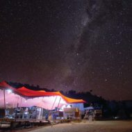Larapinta Trail eco-friendly custom tents night sky
