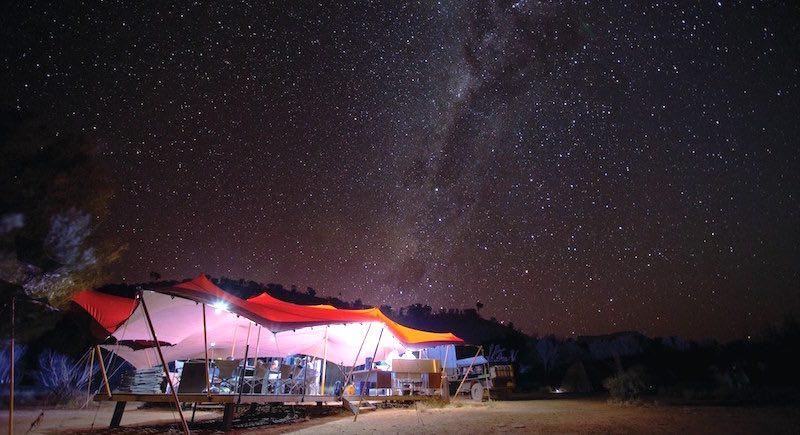 Larapinta Trail eco-friendly custom tents night sky