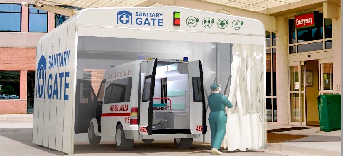 Sanitation Gate - Decontamination Tunnel- Hospital Containment Zone