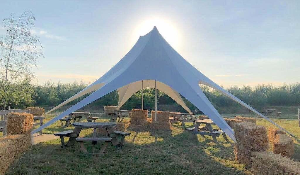 Gloucester Services Star Marquee on the M5 Social Distancing Solutions