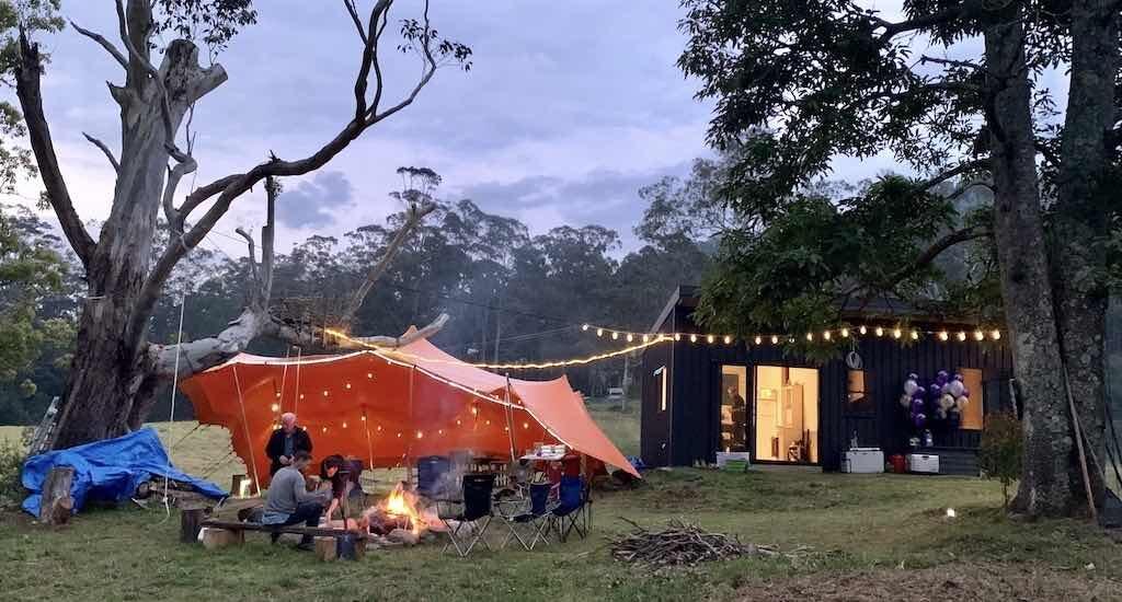 Stretch Tent Rental - Rural 50th birthday celebration
