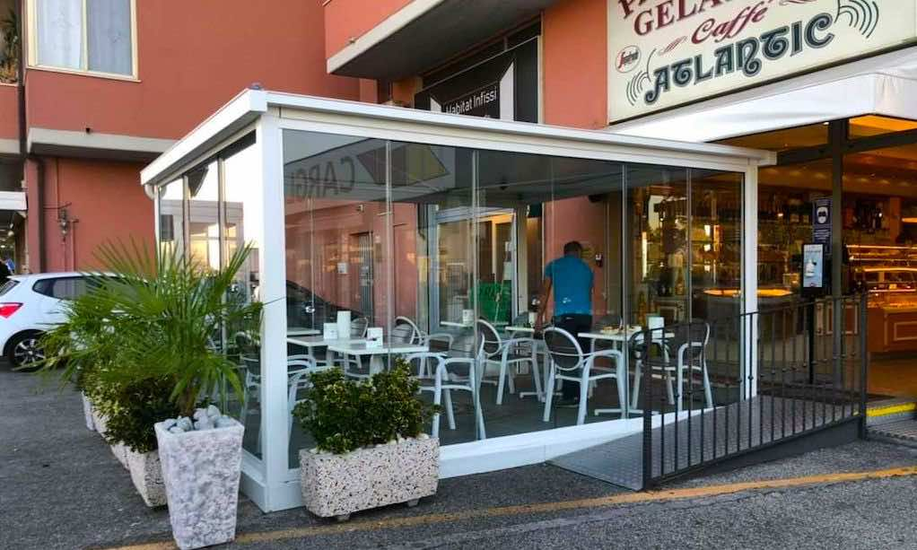Qzebo Carpark outdoor dining cover