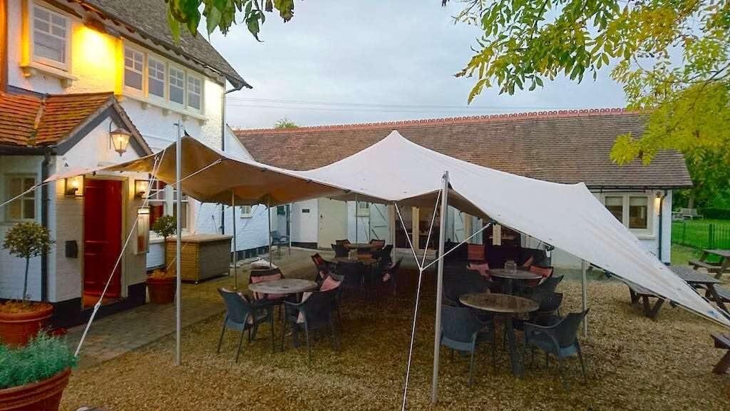Swan pub stretch tent
