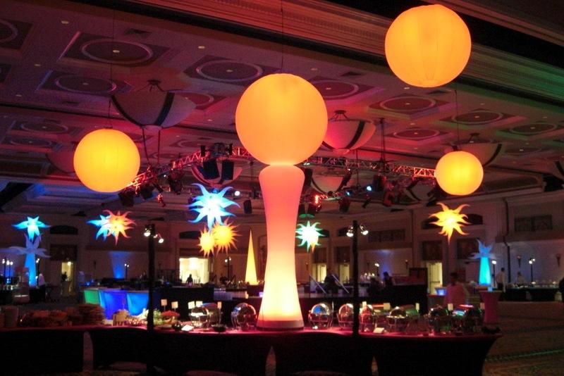 Inflatable lights to set the mood.