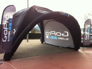 Promotional sealed inflatable marketing marquee