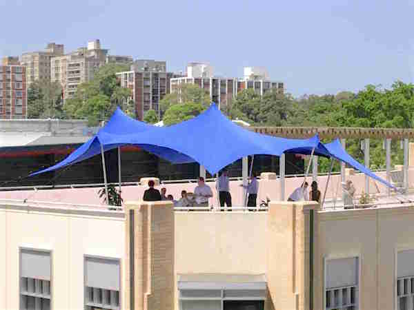 Blue 8m x 9m tent canopy style