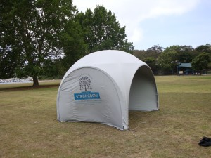 Branded Clearspan (echidna) Stretch tents