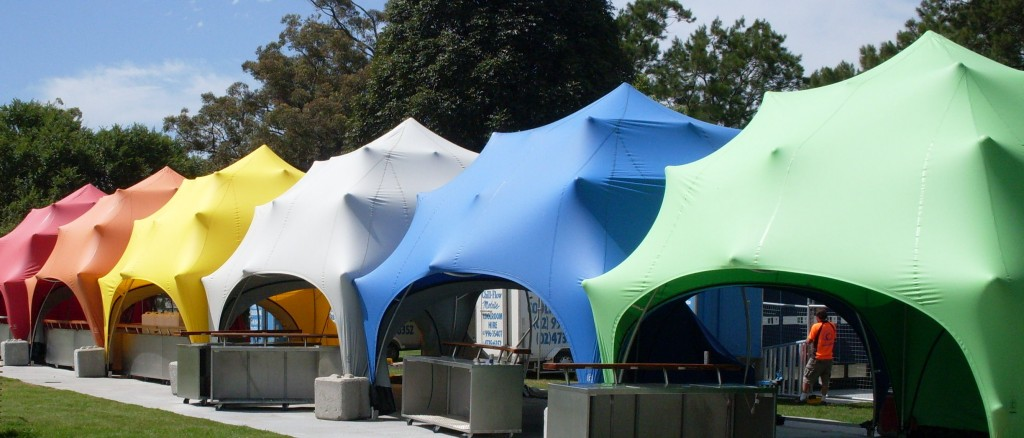 stretch tent clearspan marquees