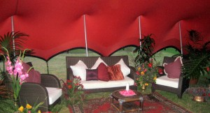 decor for stretch tents