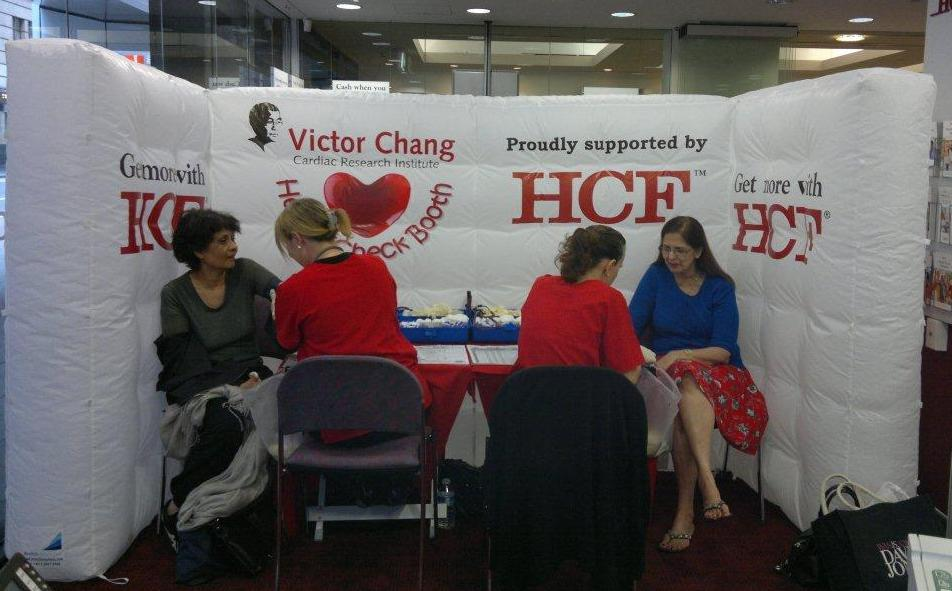 Inflatable booth for the Victor Chang Health Checks