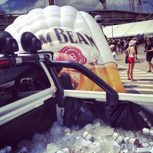 Jim Beam printed inflatable marquee