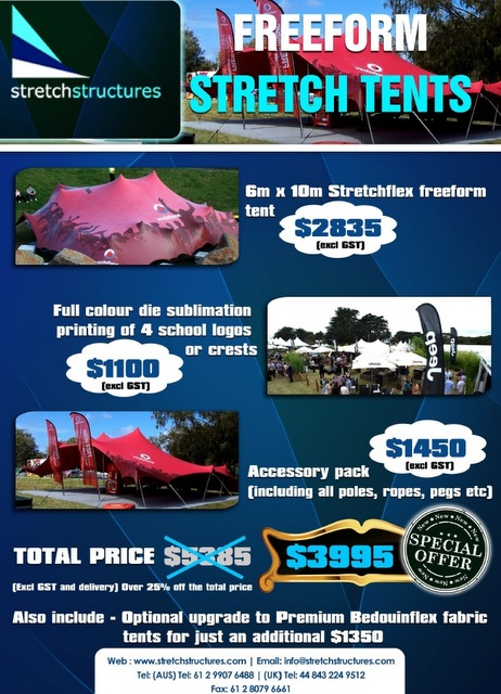 Bedouin or nomadic stretch tent promotion