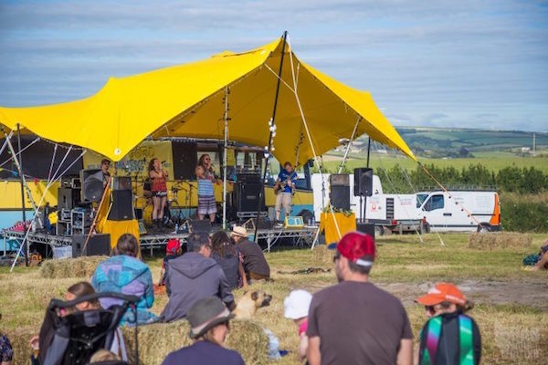 Scallywags Field Good Music Yellow Tent