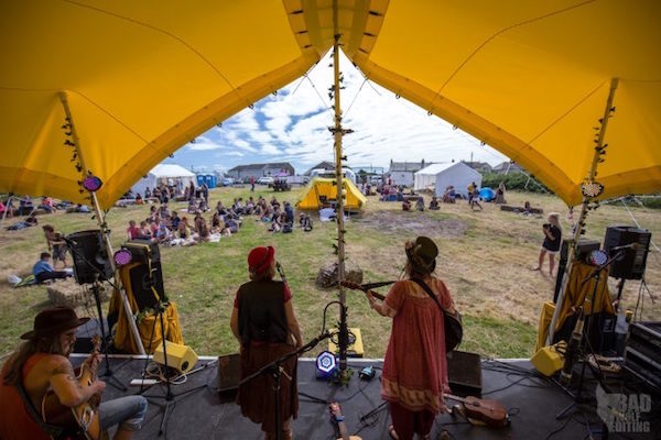 Scallywags Yellow Tent (Dot-n-Bang) Field Good Music