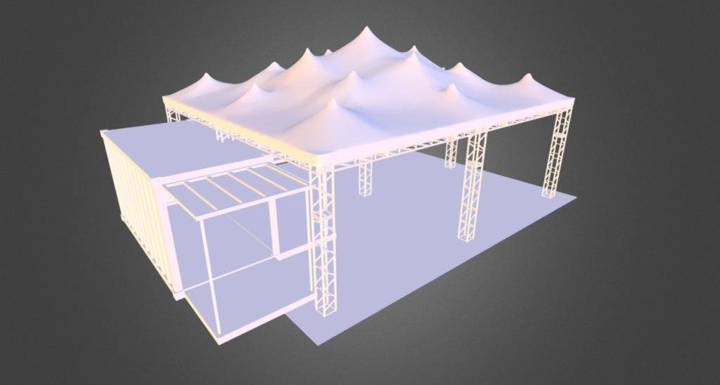 CAD designs concepts for stretch tents Stretch tent - CAD designs concepts from Stretch Marquees and Fabric Structures