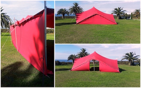 Stretch Tent Side Walls Collage