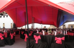 Stretch tents - Powder coated collapsible poles and joining system