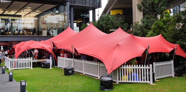 Corporate event marquees for promotions and events