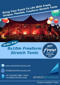 Promotional free offer on stretch tents